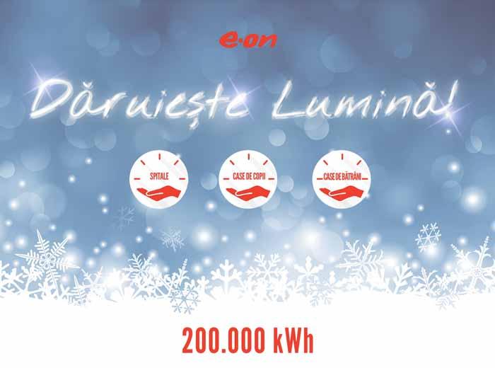 De Crăciun, E.ON Energie România dăruieşte 200.000 de kWh