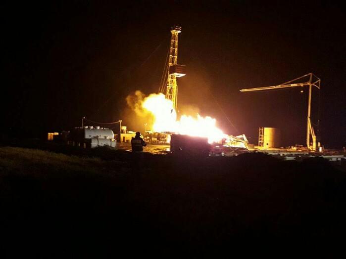 Sonda de gaze de la Moftin arde în continuare. Sunt așteptați canadienii