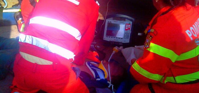 Pasageră rănită ușor în urma unui accident rutier