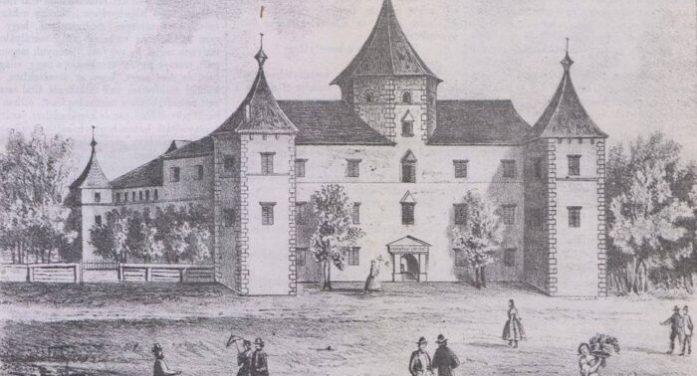 Imagine inedită ! Așa arăta castelul din Medieșu Aurit cu 150 de ani în urmă (Foto)
