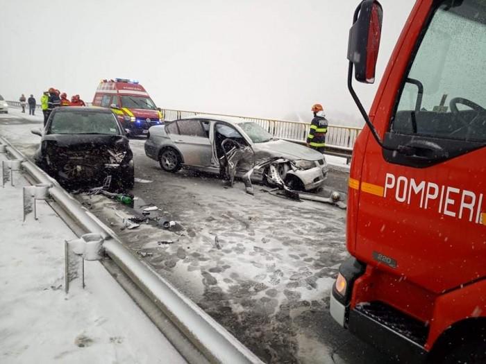 Accident grav pe podul de lângă Vraja Crasnei (foto)