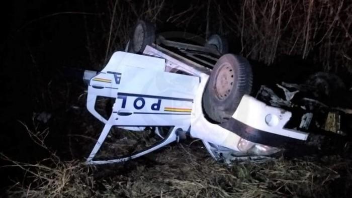 Sindicatul Europol reacționează dur la accidentul cu mașina de poliție răsturnată in șanț