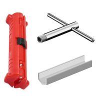 Werkzeug-Set fr F Stecker-Montage 3-teilig: Abisolierer ...