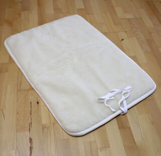 tapis de yoga sat nam naturel standard court 70 x 100 cm