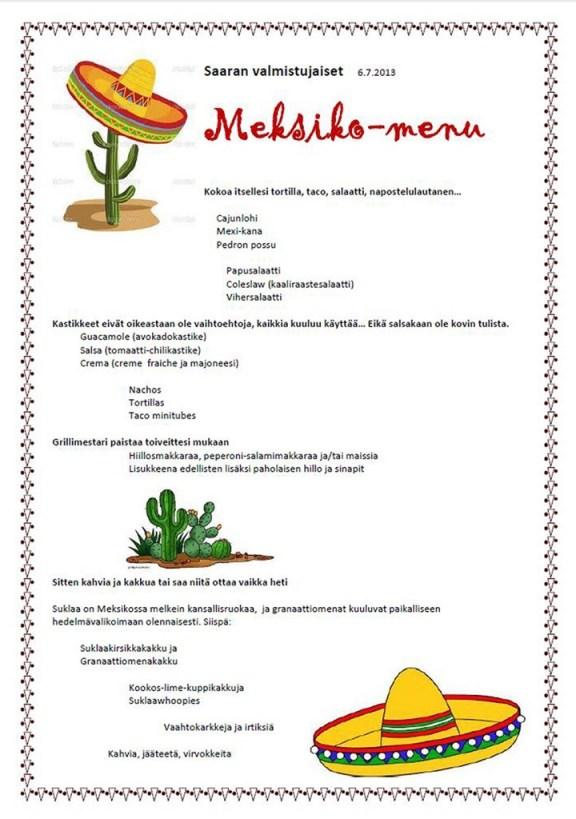 Meksiko-menu 1