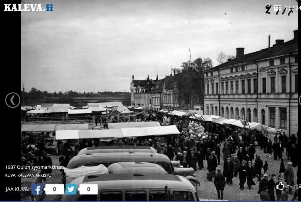 Oulun torilla 1937