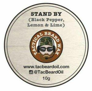 Tactical beard Oil Wax label
