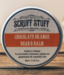 Chocolate orange beard Balm from Scruff Stuff