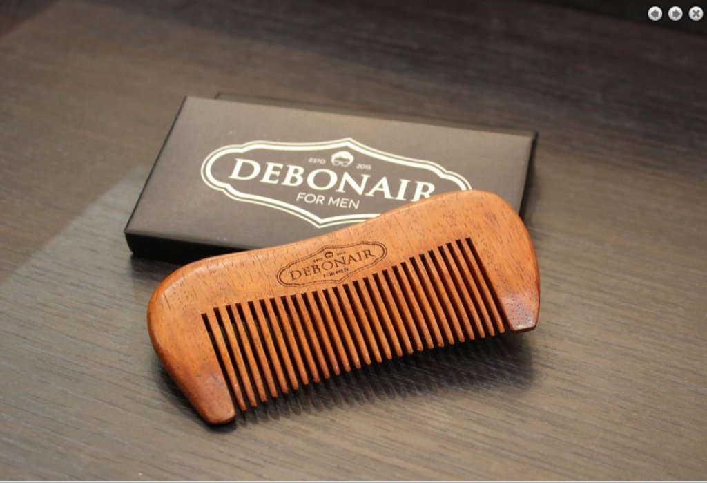 Debonair for Men Handcrafted Sandalwood Comb