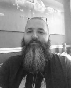 Zec Richardson using Merry Band Beard Oil 'Zingy Lime' Beard Balm