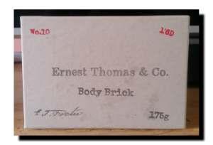 Ernest Thomas & Co Body Brick Soap