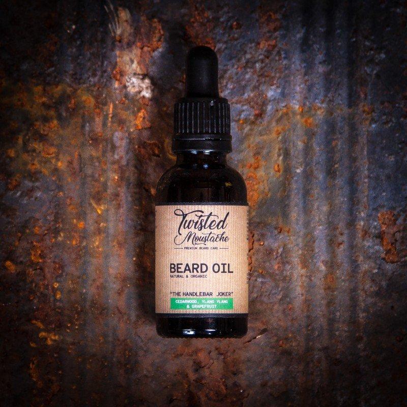 Review of Twisted Moustache The Handlebar Joker Beard Oil