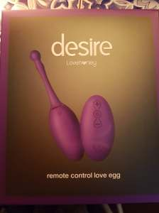 Desire Luxury Rechargeable Remote Control Love Egg Vibrator