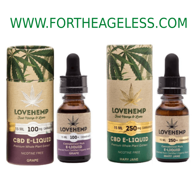 Review: Love Hemp CBD eliquid from For The Ageless