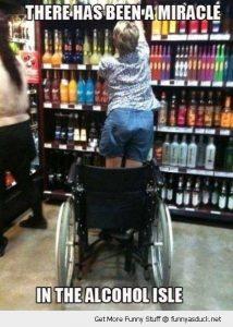 Wheelchair user standing