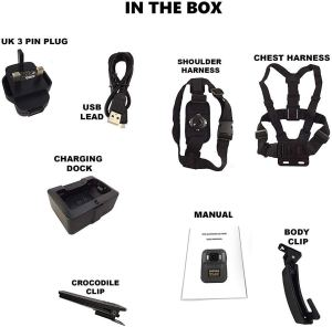 D5 Mini body worn camera accessories