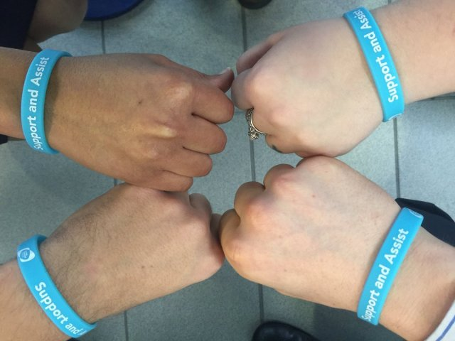 London Southend Airport Blue Wristbands for people with a hidden disability