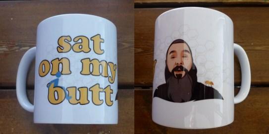 satonmybutt logo mug
