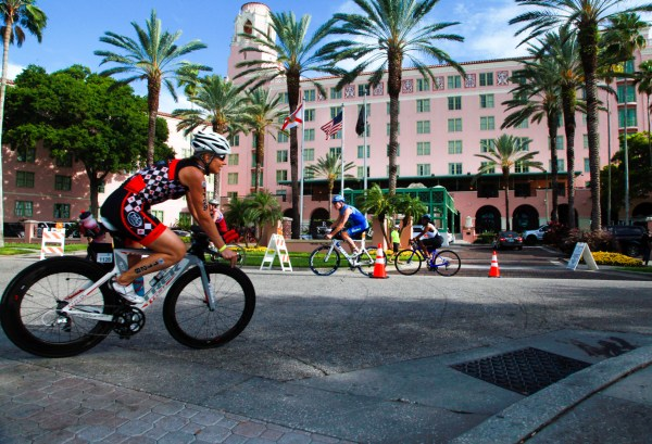 St. Petersburg, Fl.  4.30.2017. Passing the Vinoy. World Champions, Olympians, and a well-rounded roster of professional athletes from across the world comprise the field for the 34th Annual St. Anthony's Triathlon that returns to St. Petersburg on Sunday, April 30th 2017.