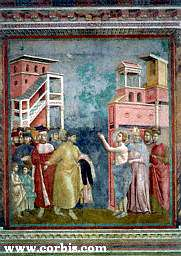 Francis renouncing worldly goods, by Giotto