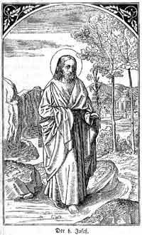 St. Joseph, from an old German book of saints