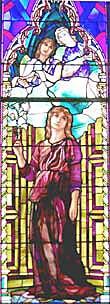 LaFarge window at All Saints, Whitman, Mass.