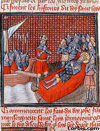 Death of Louis in Tunis, from an illuminated mauscript of the history of France