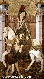 Martin of Tours dividing his cloak in half