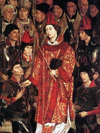 Detail of altarpiece showing St. Vincent, by Nuno Goncalves