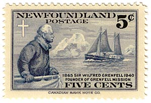 postage stamp homring Wilfred Grenfell