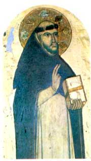 fresco of St. Dominic