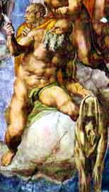 St. Bartholomew, by Michaelangelo