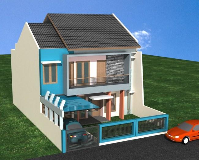 6100 Gambar Rumah 2 Lantai Kotak Gratis Terbaik
