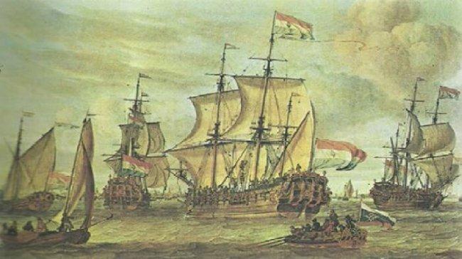 kapal Belanda di danau tondano hancur