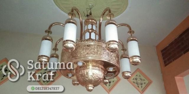 lampu masjid dari tembaga kuningan
