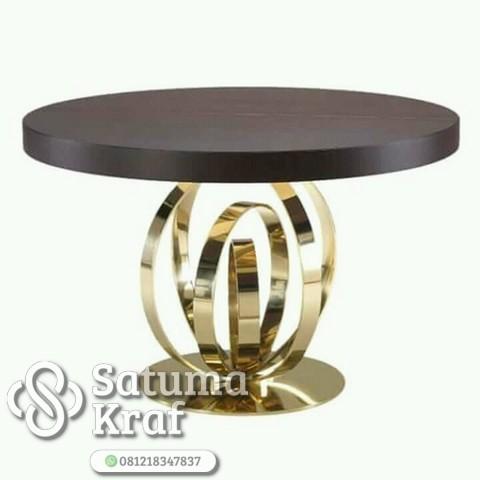 meja tembaga kuningan bagus mewah