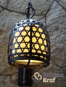 lampu sangkar anyam kuningan