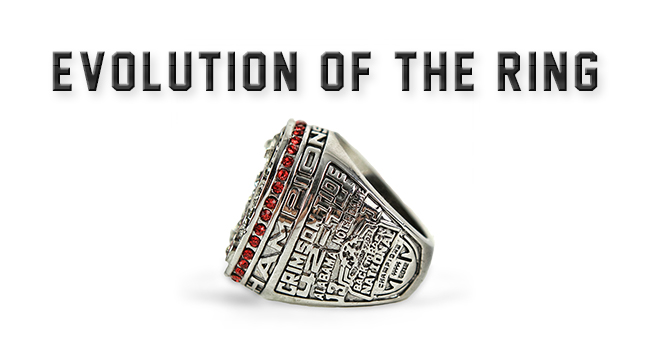 The evolution of the national championship ring