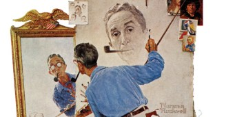 Rockwell Finally Appears as Himself in Triple Self-Portrait | The Saturday  Evening Post