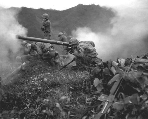 A recoilless rifle during the Korean War