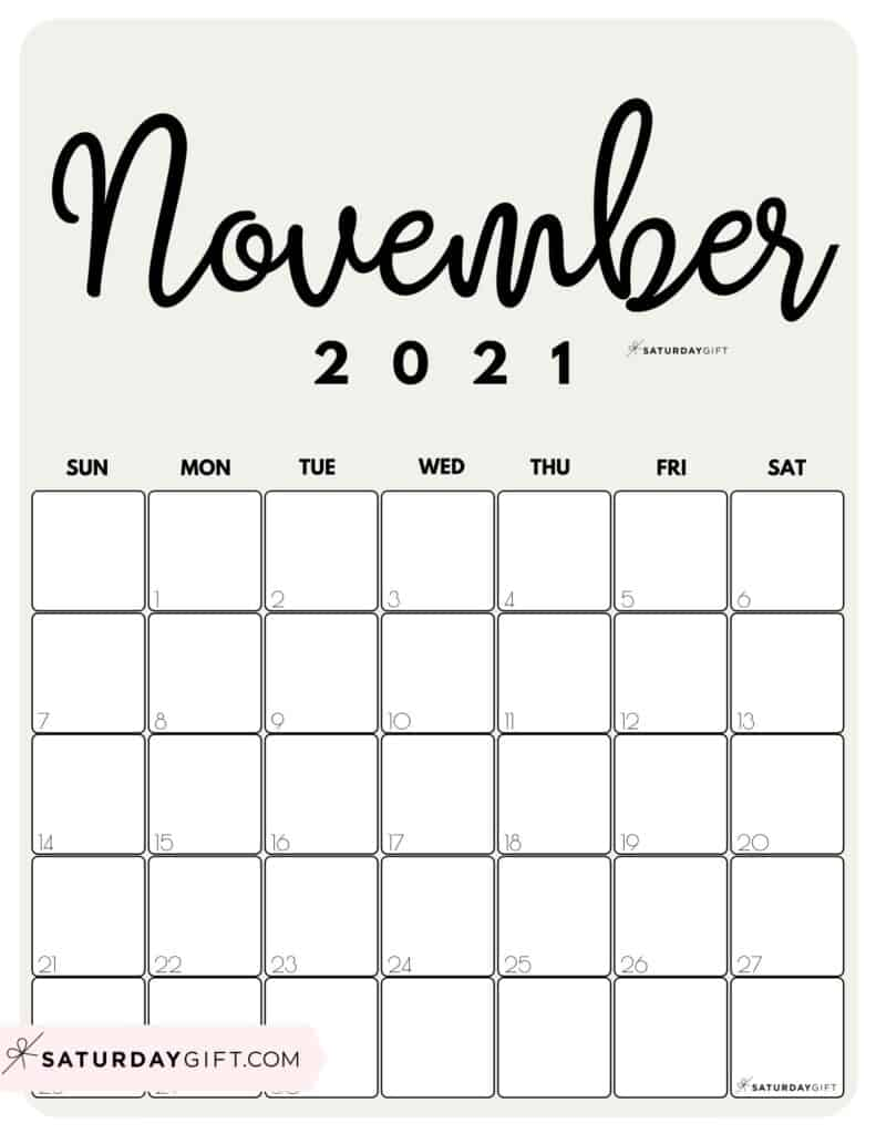 Printable 2021 Calendar by Month in 3 Cute Colors ...