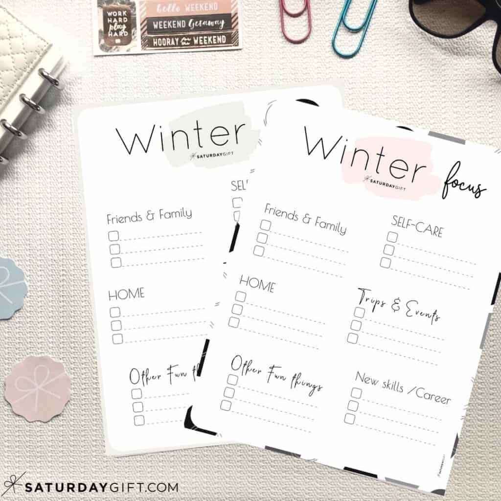 Write Down Your Winter Plans And Goals And Stay Focused