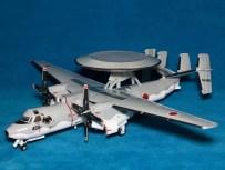 Maqueta 3D recortable y armable del avión E-2C Hawkeye. Manualidades a Raudales.