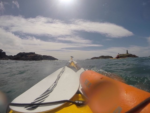 Paddling out to the Beacon