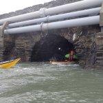 Four Mile Bridge - In he goes...
