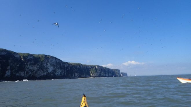 On the way to the Bempton Arch