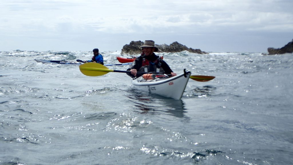 Ron grinning from ear to ear after his surf in the Inner Race