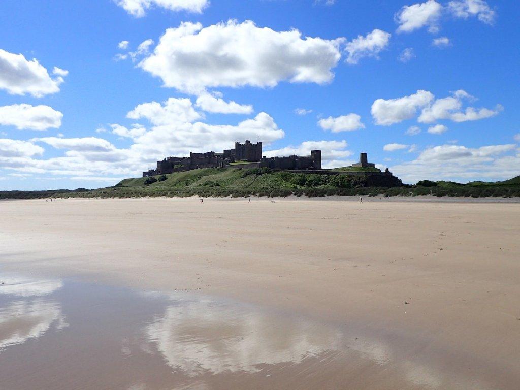 Bamburgh Castle and Beach