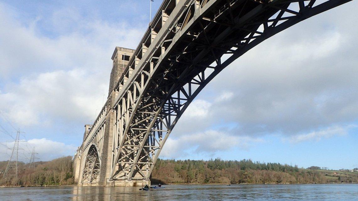 Under Britannia Bridge