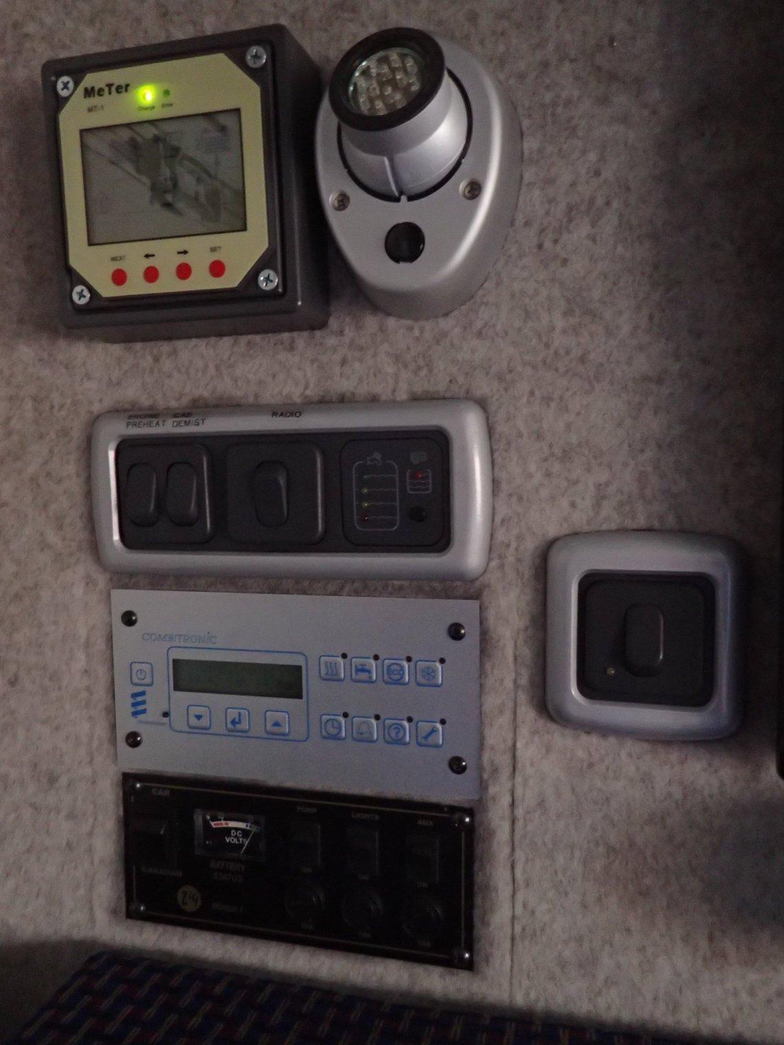 Control panels and LED light